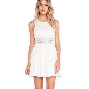 Free People White Daisy Waist Dress Sz 4
